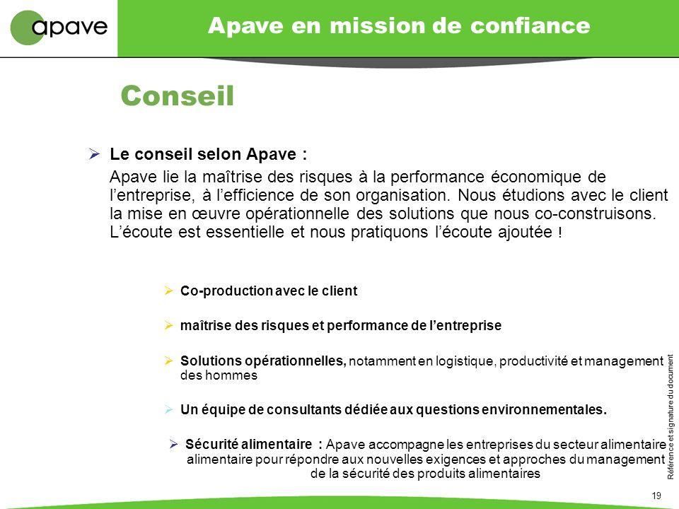Conseil Le conseil selon Apave :