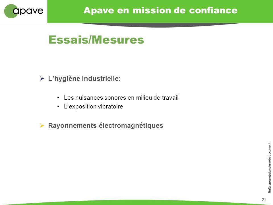 Essais/Mesures L'hygiène industrielle: Rayonnements électromagnétiques