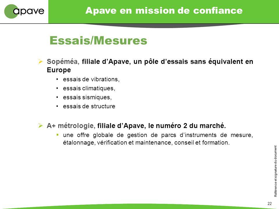 Essais/Mesures Sopéméa, filiale d'Apave, un pôle d'essais sans équivalent en Europe. essais de vibrations,