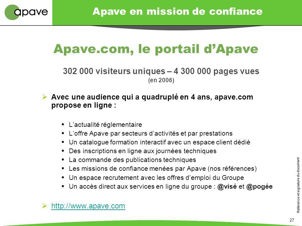 Apave.com, le portail d'Apave