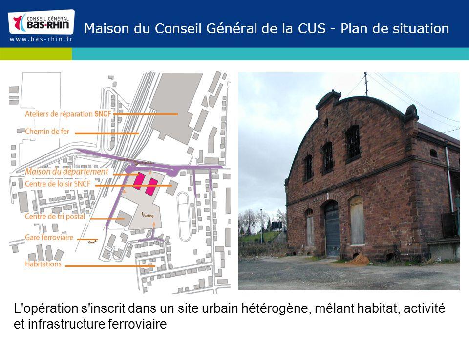 Maison du Conseil Général de la CUS - Plan de situation