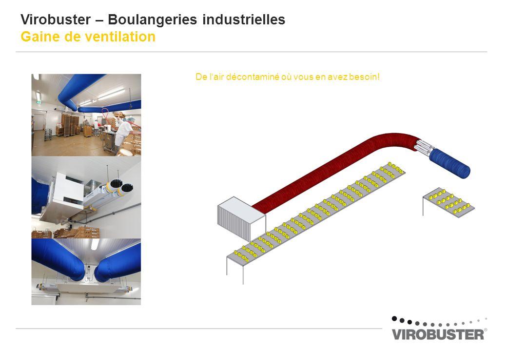 Virobuster – Boulangeries industrielles Gaine de ventilation