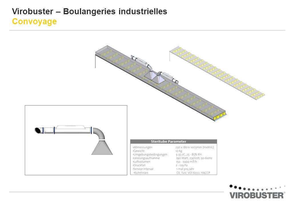 Virobuster – Boulangeries industrielles Convoyage
