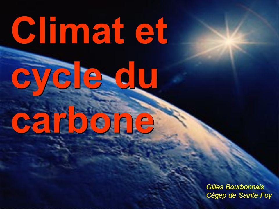 Climat et cycle du carbone