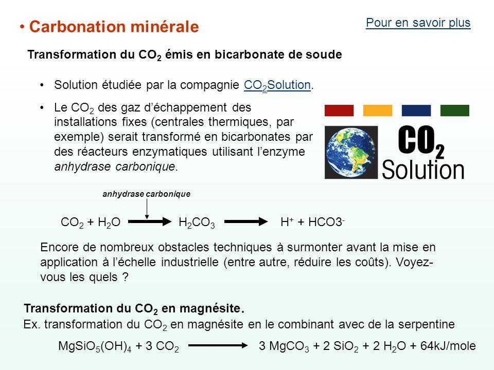 Carbonation minérale Pour en savoir plus