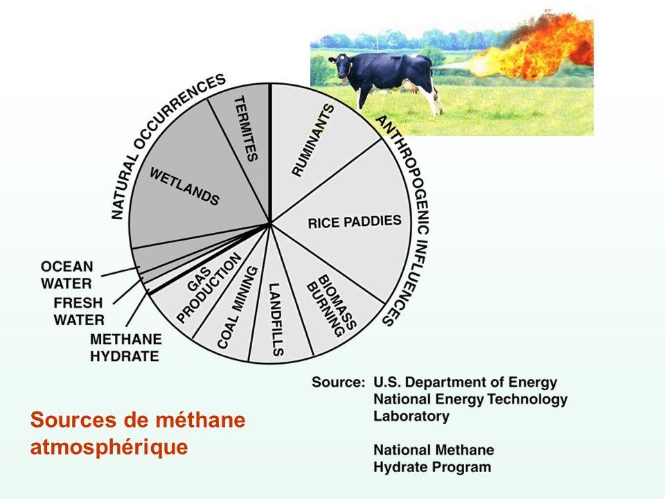Sources de méthane atmosphérique