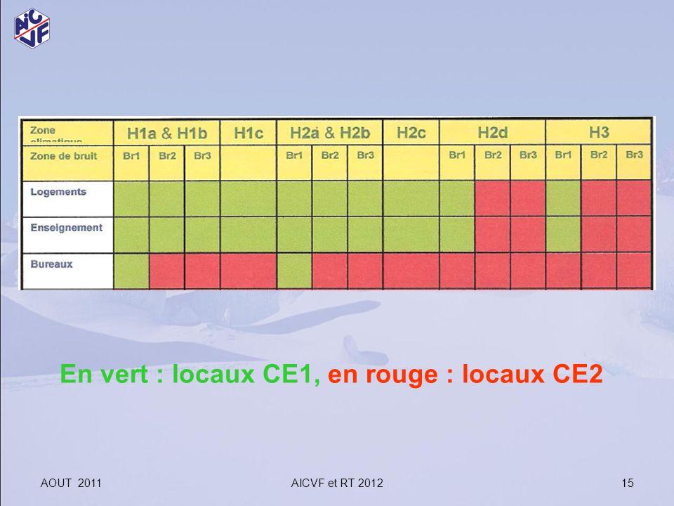 En vert : locaux CE1, en rouge : locaux CE2
