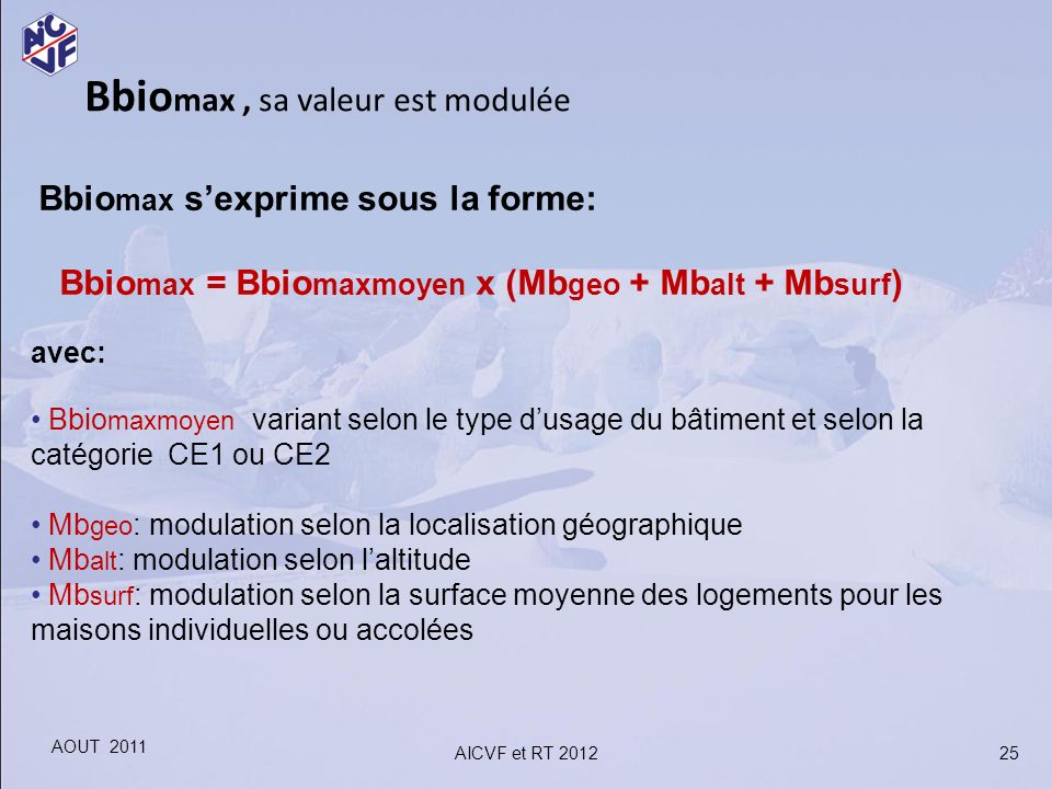 Bbiomax , sa valeur est modulée