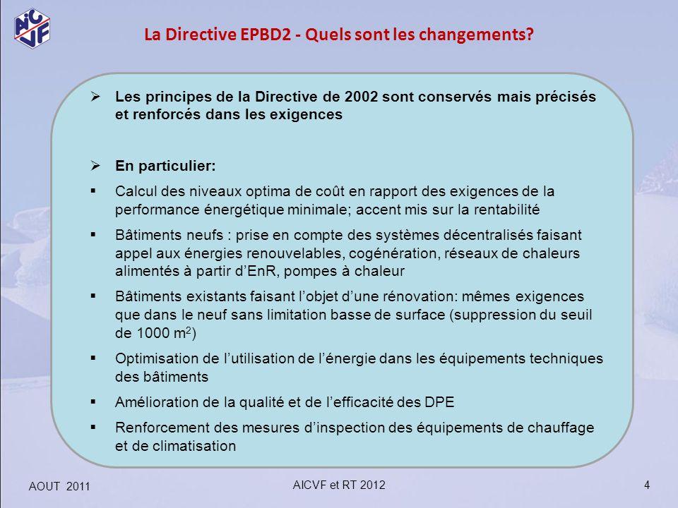 La Directive EPBD2 - Quels sont les changements