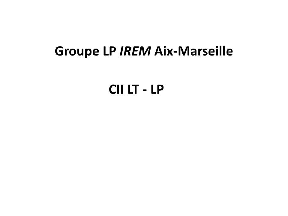 Groupe LP IREM Aix-Marseille