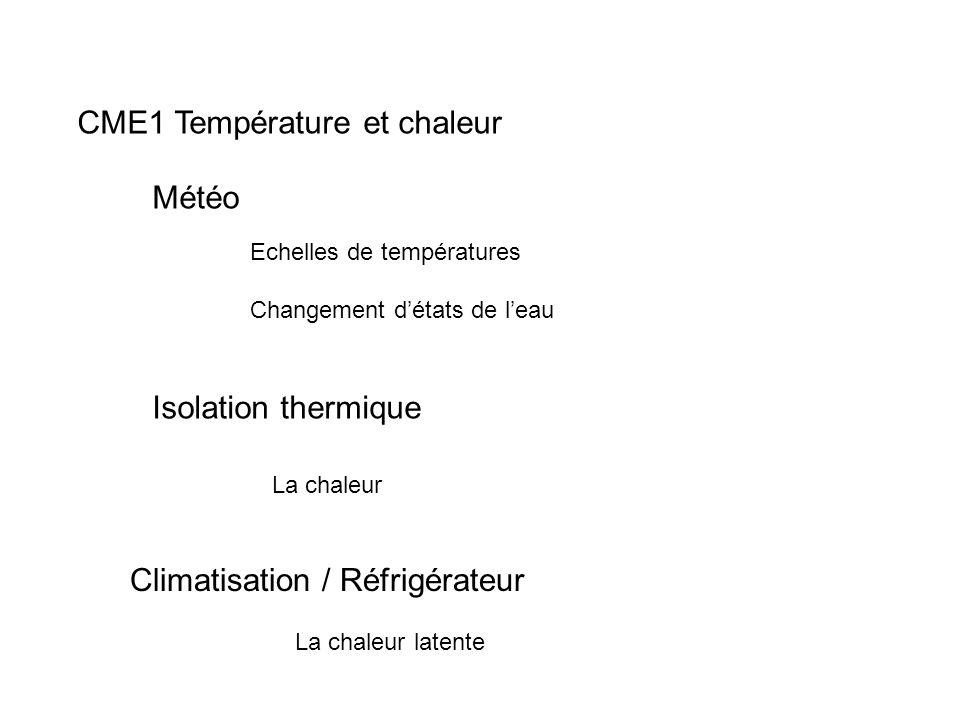 CME1 Température et chaleur