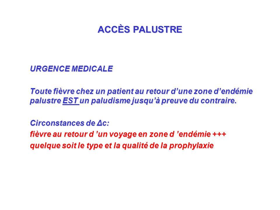 ACCÈS PALUSTRE URGENCE MEDICALE