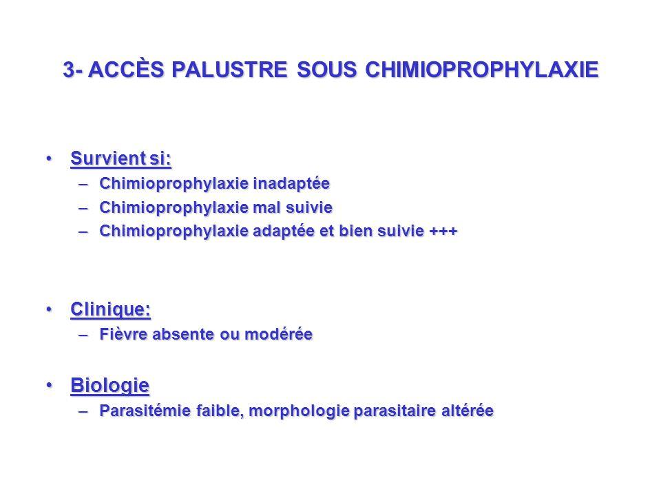 3- ACCÈS PALUSTRE SOUS CHIMIOPROPHYLAXIE