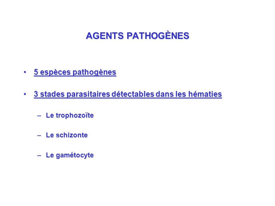 AGENTS PATHOGÈNES 5 espèces pathogènes