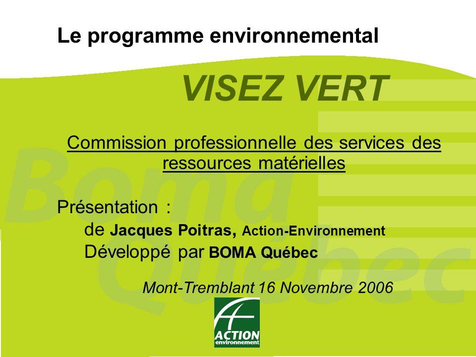 VISEZ VERT Le programme environnemental