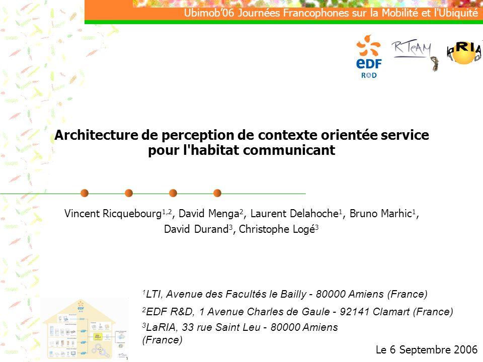 Architecture de perception de contexte orientée service