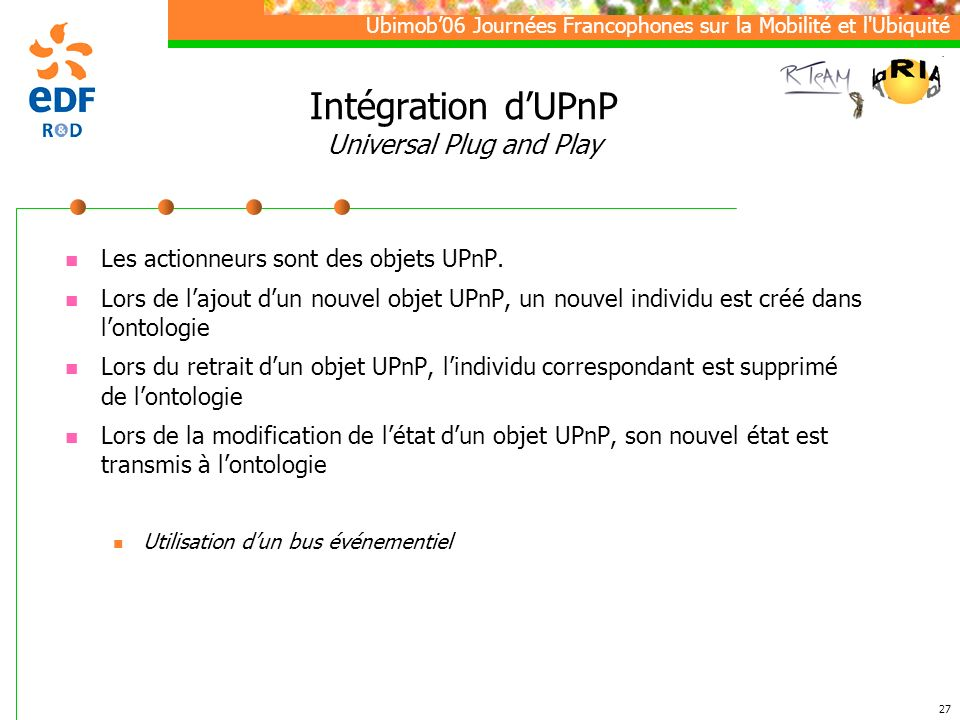 Intégration d'UPnP Universal Plug and Play