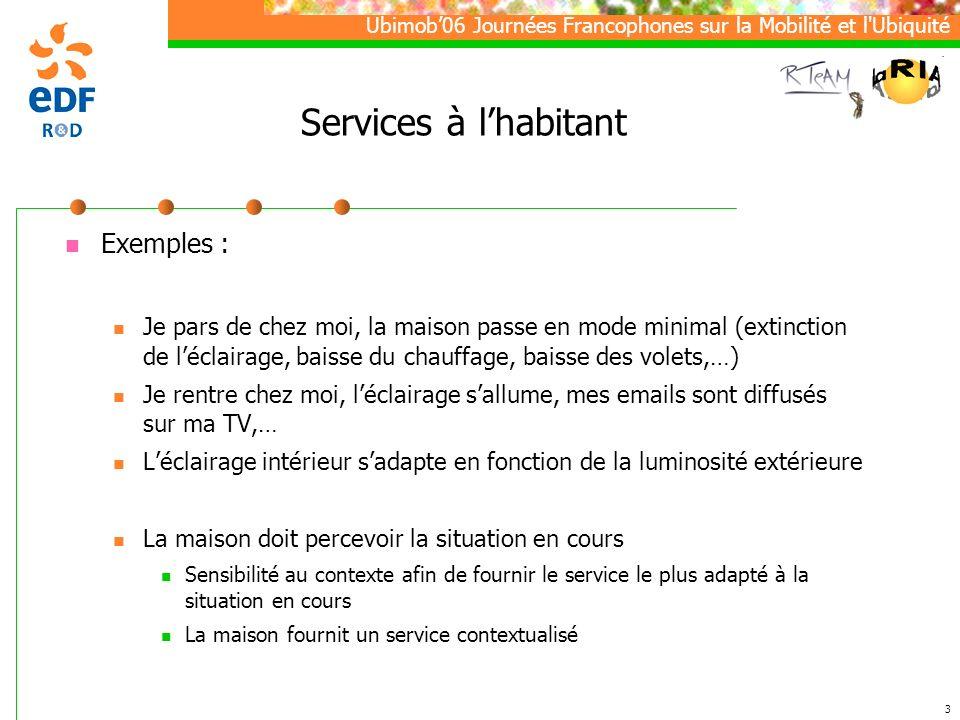 Services à l'habitant Exemples :