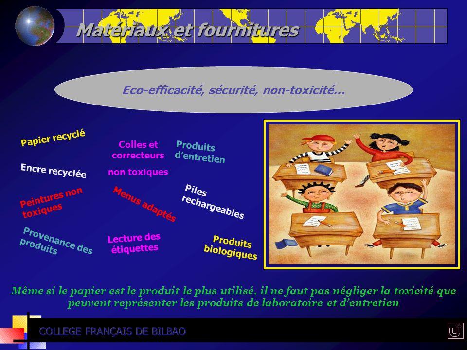 Matériaux et fournitures