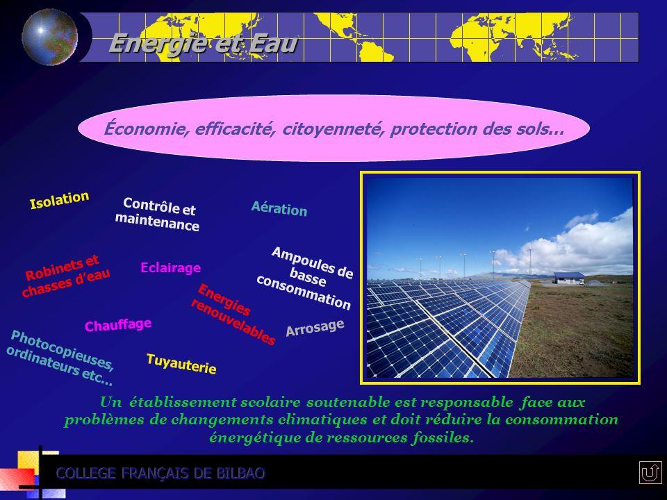 Energie et Eau Économie, efficacité, citoyenneté, protection des sols... Isolation. Contrôle et maintenance.