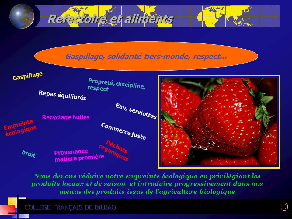 Refectoire et aliments