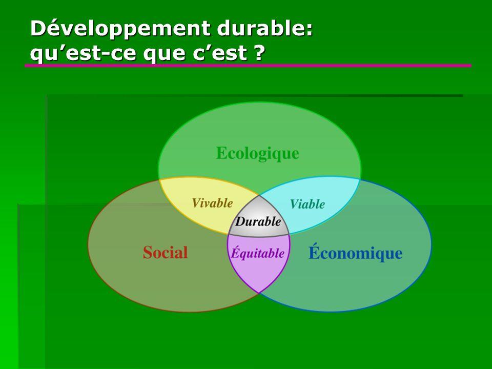 Développement durable: qu'est-ce que c'est