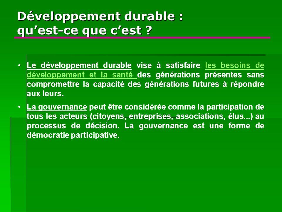 Développement durable : qu'est-ce que c'est