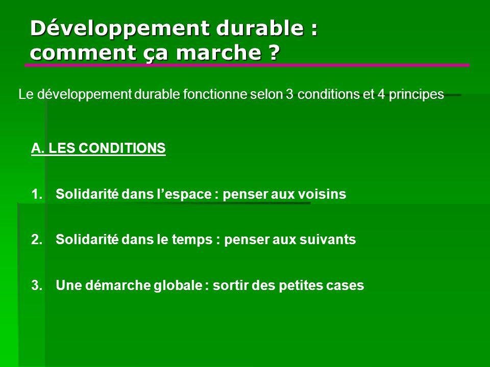 Développement durable : comment ça marche
