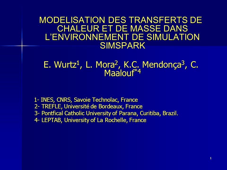 E. Wurtz1, L. Mora2, K.C. Mendonça3, C. Maalouf*4