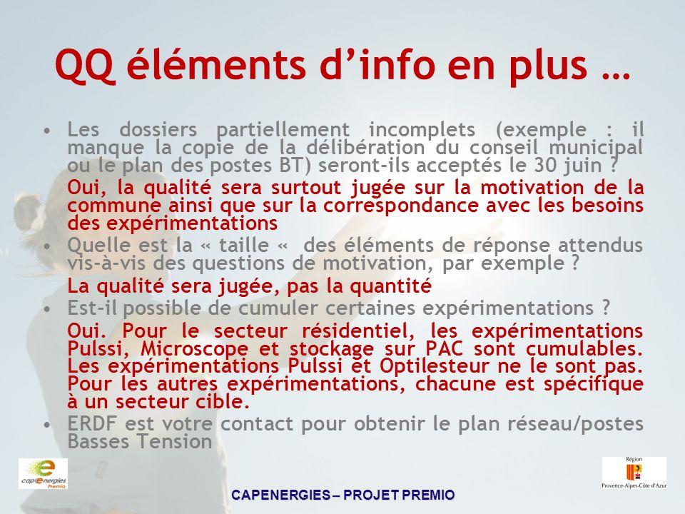 QQ éléments d'info en plus …
