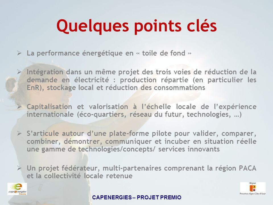 Quelques points clés La performance énergétique en « toile de fond »
