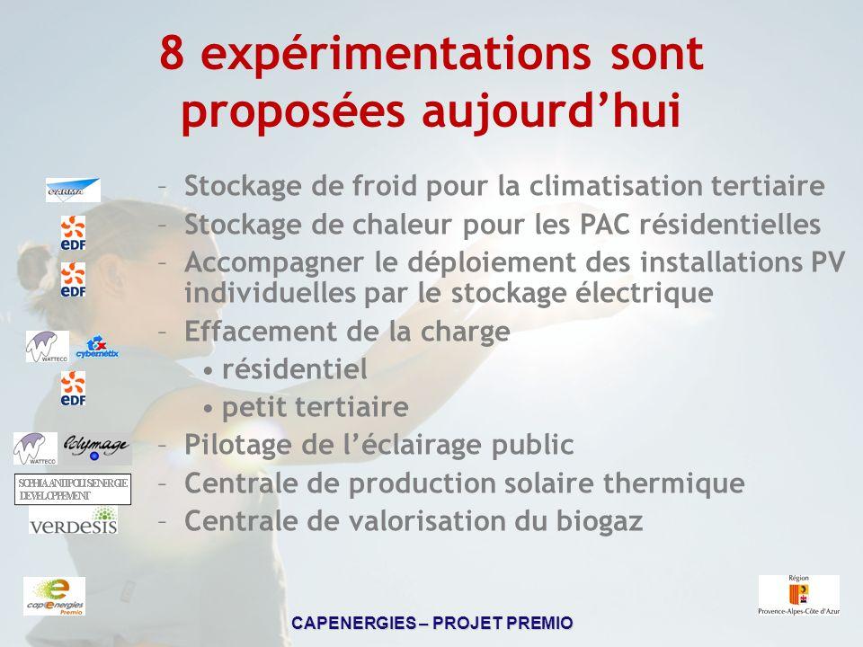 8 expérimentations sont proposées aujourd'hui