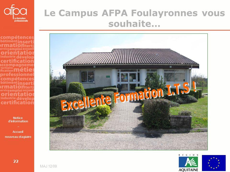 Le Campus AFPA Foulayronnes vous souhaite…