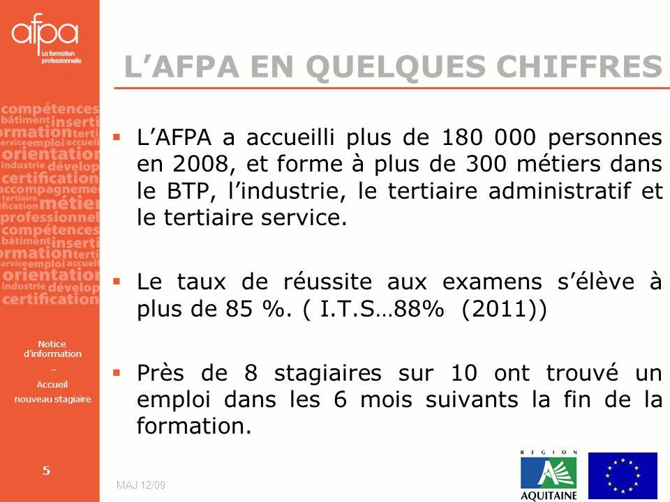 L'AFPA EN QUELQUES CHIFFRES