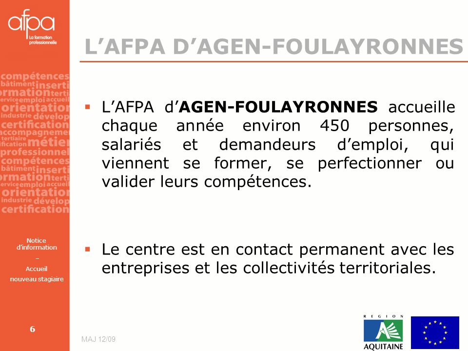 L'AFPA D'AGEN-FOULAYRONNES