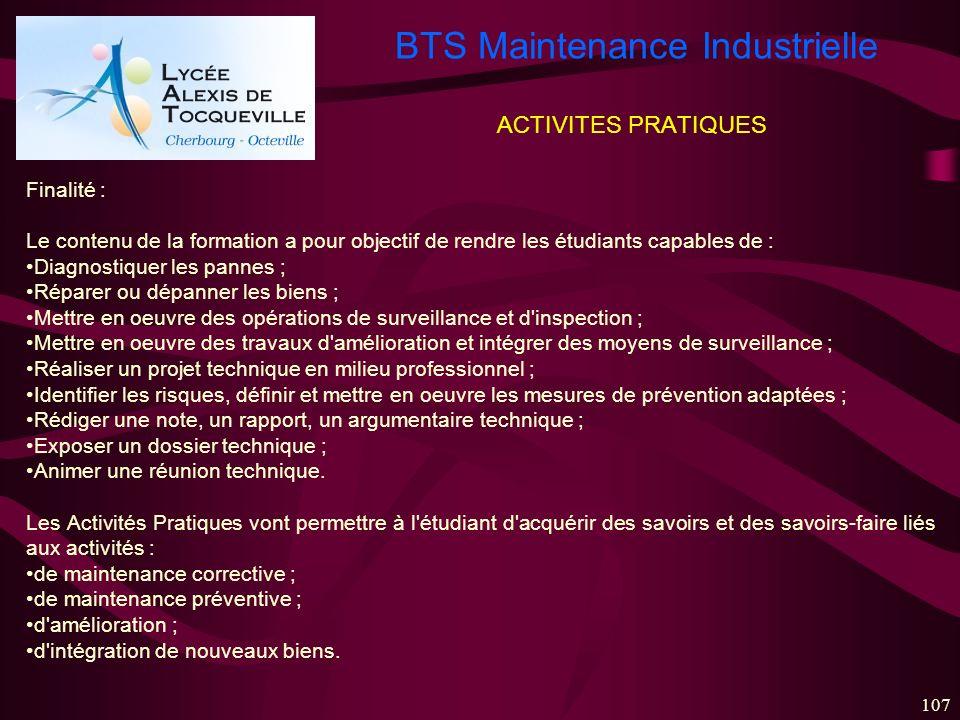 ACTIVITES PRATIQUES Finalité :