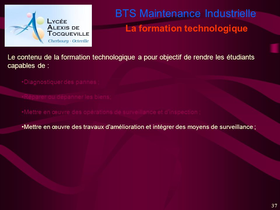 La formation technologique