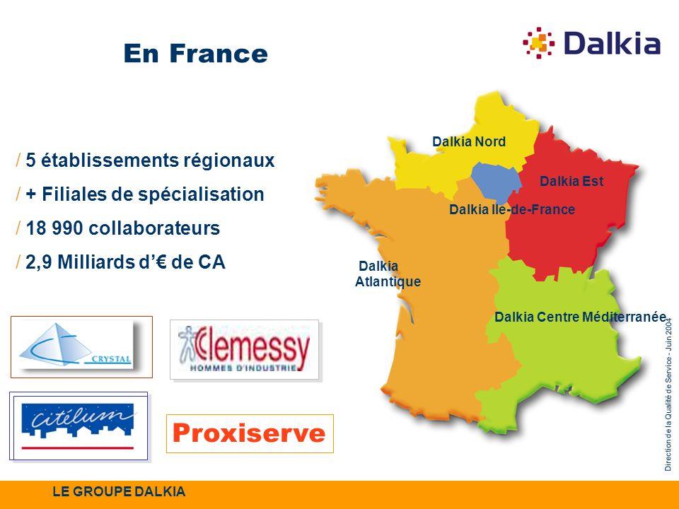 En France Proxiserve 5 établissements régionaux
