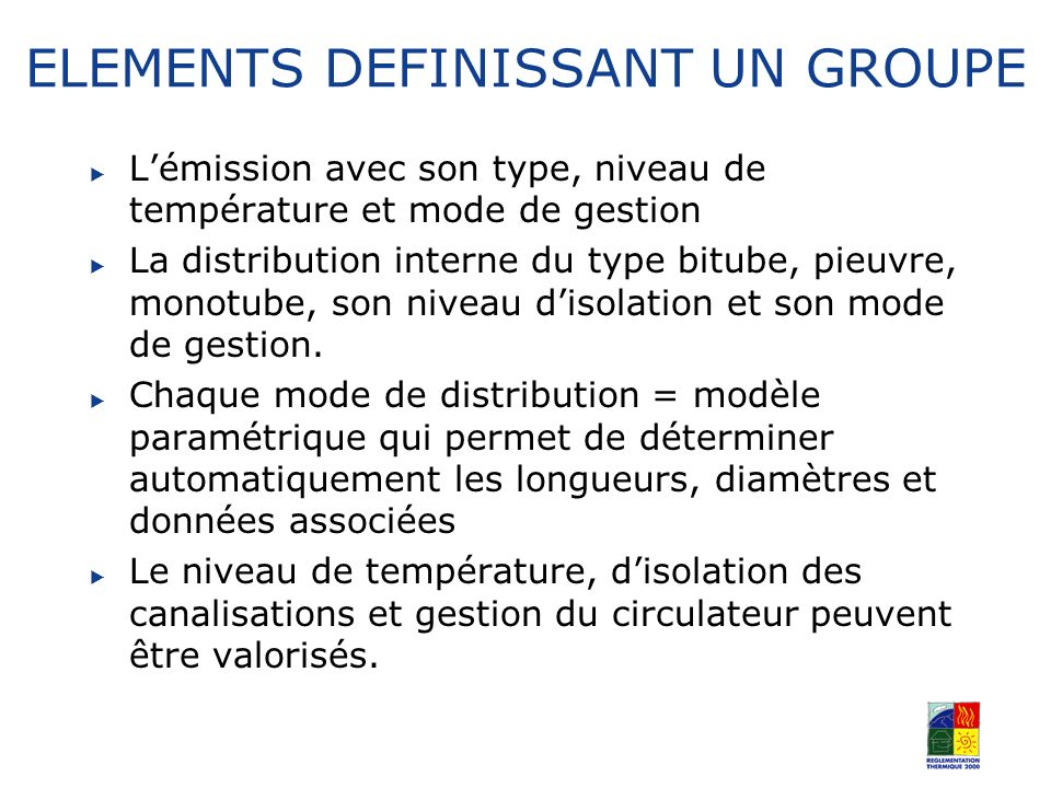 ELEMENTS DEFINISSANT UN GROUPE