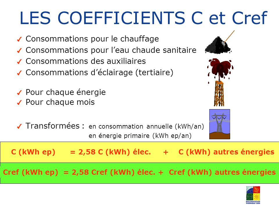 LES COEFFICIENTS C et Cref