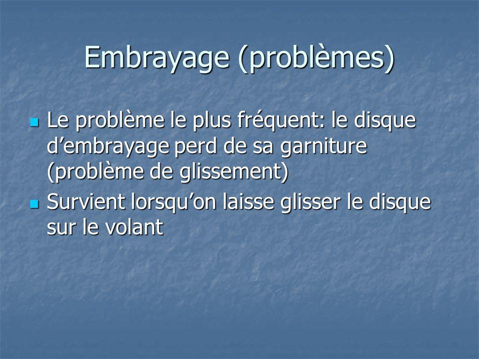 Embrayage (problèmes)