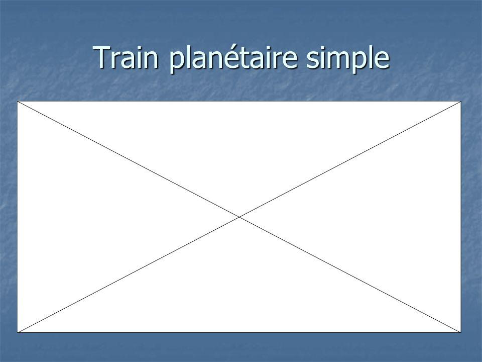 Train planétaire simple