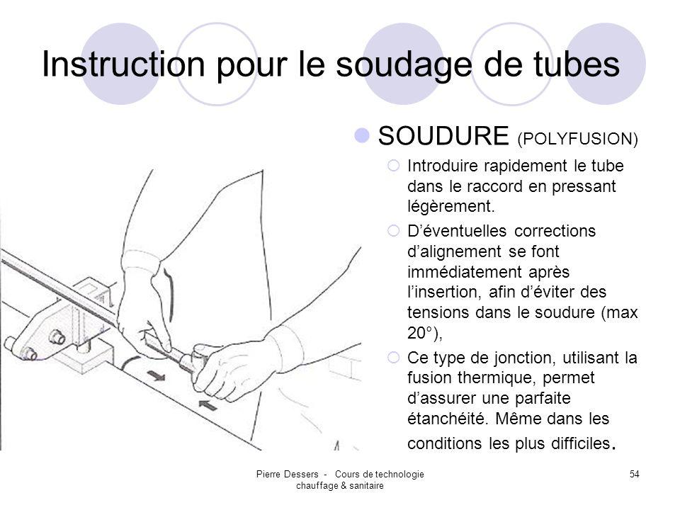Instruction pour le soudage de tubes