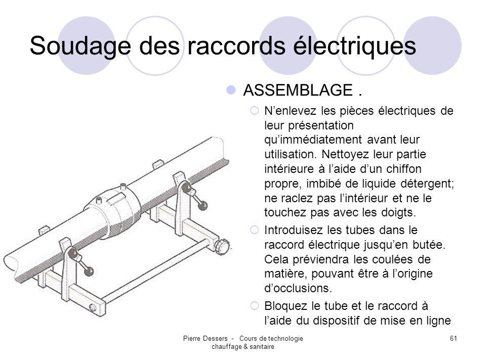 Soudage des raccords électriques