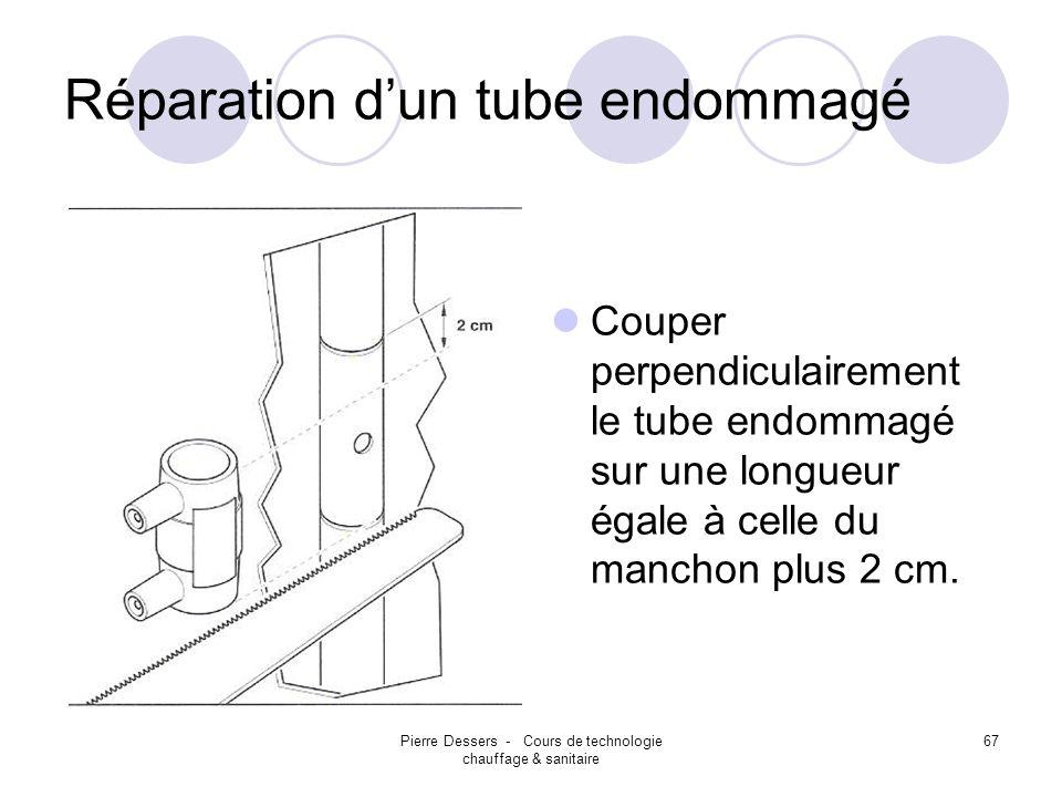 Réparation d'un tube endommagé
