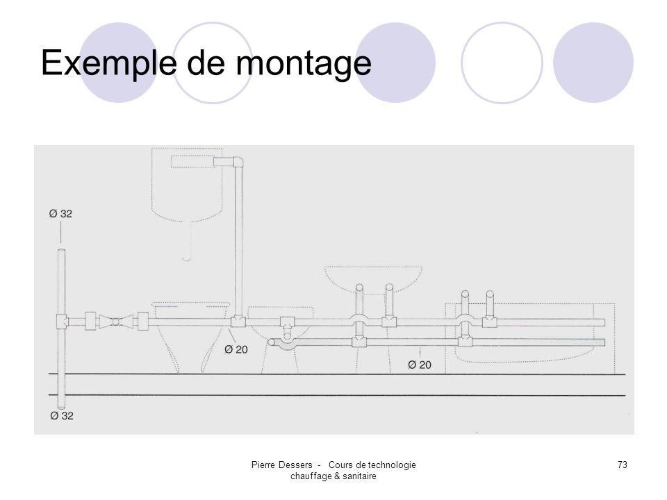 Pierre Dessers - Cours de technologie chauffage & sanitaire
