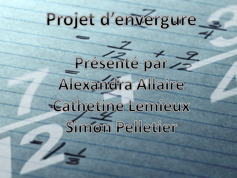 Projet d'envergure Présenté par Alexandra Allaire Cathetine Lemieux