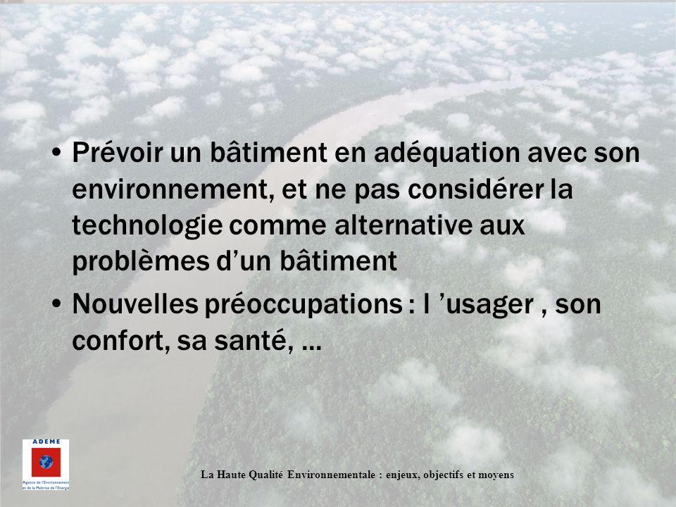 Prévoir un bâtiment en adéquation avec son environnement, et ne pas considérer la technologie comme alternative aux problèmes d'un bâtiment