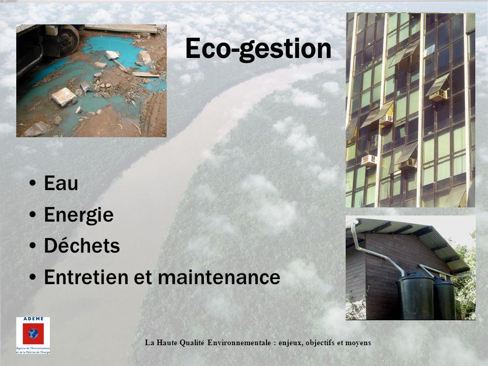 Eco-gestion Eau Energie Déchets Entretien et maintenance