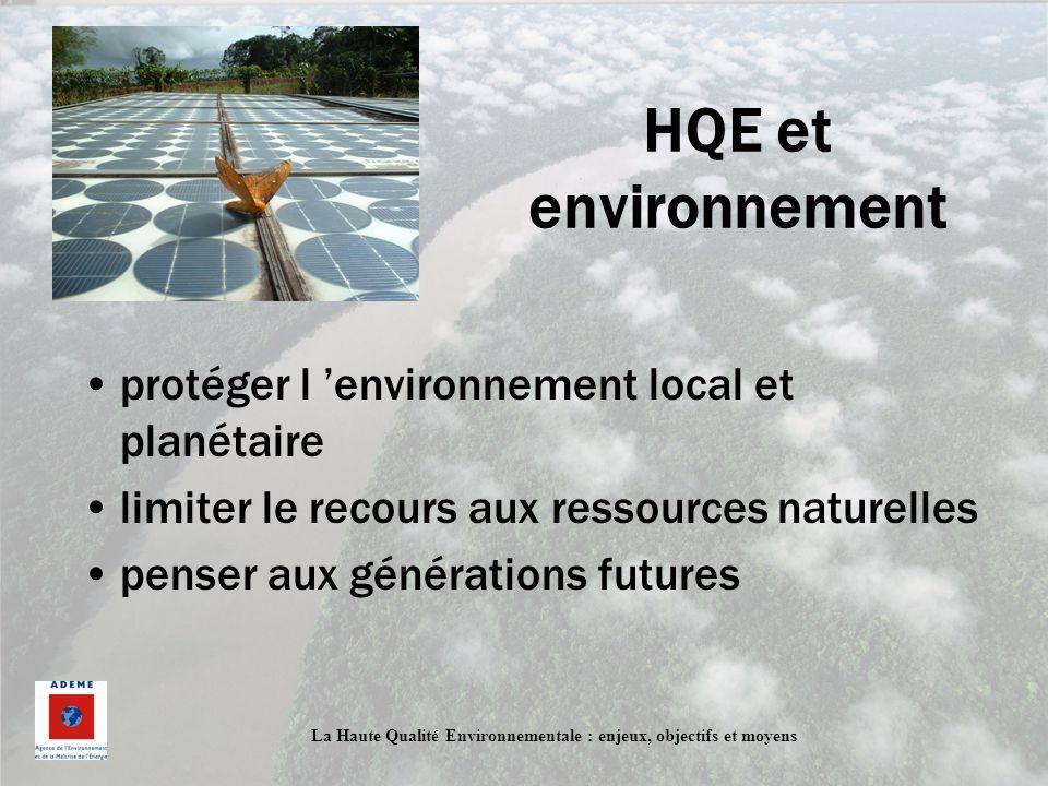HQE et environnement protéger l 'environnement local et planétaire